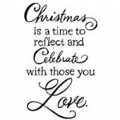 Stampendous - Christmas Love - Cling Rubber Stamp - CRM326